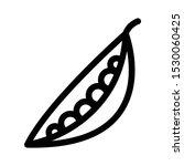 green peas outline icon  line... | Shutterstock .eps vector #1530060425