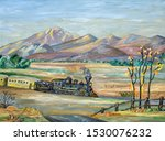 Naive Painting Of An Old...