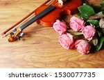 Violin And A Bouquet Of Five...