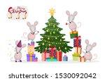 merry christmas banner. a... | Shutterstock .eps vector #1530092042