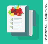 grocery shopping list or... | Shutterstock .eps vector #1530140702