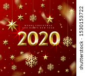 new year and christmas greeting ... | Shutterstock .eps vector #1530153722