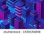 isometric flat skyscrapers city ... | Shutterstock .eps vector #1530156848