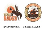 rodeo retro logo with cowboy... | Shutterstock .eps vector #1530166655
