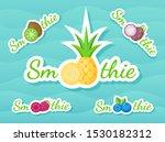 green sticker smoothie fruit...   Shutterstock . vector #1530182312