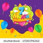 seven months baby poster.... | Shutterstock .eps vector #1530196262