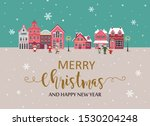 merry christmas and new year... | Shutterstock .eps vector #1530204248