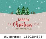 merry christmas and new year... | Shutterstock .eps vector #1530204575