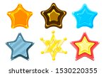 glossy colorful stars set  game ...