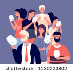 people covering faces with... | Shutterstock .eps vector #1530223802