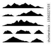 mountain silhouette. isolated... | Shutterstock .eps vector #1530227255