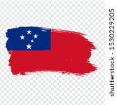 flag samoa from brush strokes.... | Shutterstock .eps vector #1530229205