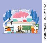 back to school education... | Shutterstock .eps vector #1530245765