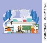 back to school education... | Shutterstock .eps vector #1530245768