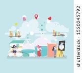 back to school education... | Shutterstock .eps vector #1530245792