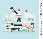 back to school education... | Shutterstock .eps vector #1530245795