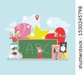back to school education... | Shutterstock .eps vector #1530245798