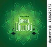 decorative eco green diwali... | Shutterstock .eps vector #1530252572