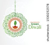 decorative green diwali concept ... | Shutterstock .eps vector #1530252578