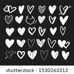 set of 30 hand drawn vector... | Shutterstock .eps vector #1530263312