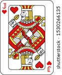 a playing card jack of hearts... | Shutterstock .eps vector #1530266135