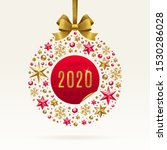 2020 new year greeting... | Shutterstock .eps vector #1530286028