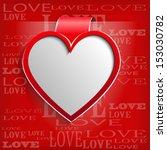 white heart on red background   ... | Shutterstock .eps vector #153030782