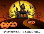 halloween. the road to the...   Shutterstock .eps vector #1530307862