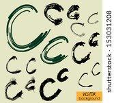 art sketch set of vector... | Shutterstock .eps vector #153031208