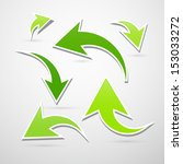 vector green arrows set... | Shutterstock .eps vector #153033272