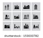 vector black building factory...   Shutterstock .eps vector #153033782