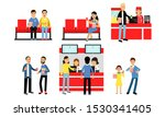 boys and girls characters going ... | Shutterstock .eps vector #1530341405