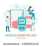 world diabetes day banner.... | Shutterstock .eps vector #1530342125