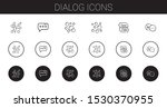 dialog icons set. collection of ... | Shutterstock .eps vector #1530370955