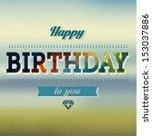 vintage birthday card   Shutterstock .eps vector #153037886