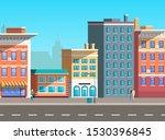 city street vector  empty town... | Shutterstock .eps vector #1530396845