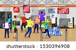 big discounts in marketplace... | Shutterstock .eps vector #1530396908
