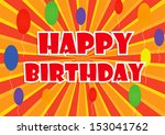 happy birthday background ... | Shutterstock .eps vector #153041762