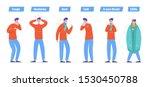 set of sick people characters.... | Shutterstock .eps vector #1530450788