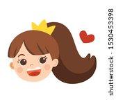 face of girl wearing crown... | Shutterstock .eps vector #1530453398