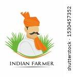 indian farmer logo design... | Shutterstock .eps vector #1530457352