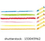 crayon collection vector  | Shutterstock .eps vector #153045962