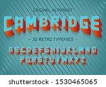 stock vector font set 3d... | Shutterstock .eps vector #1530465065