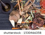 chinese herb selection used in...   Shutterstock . vector #1530466358