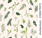 floral seamless pattern with... | Shutterstock .eps vector #1530479072