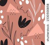 modern simple shapes seamless... | Shutterstock .eps vector #1530500858