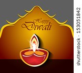 abstract diwali design with... | Shutterstock .eps vector #153051842