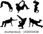the set of 6 dancer silhouette...