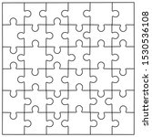 puzzle template vector... | Shutterstock .eps vector #1530536108