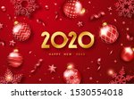 happy new year 2020. background ... | Shutterstock .eps vector #1530554018